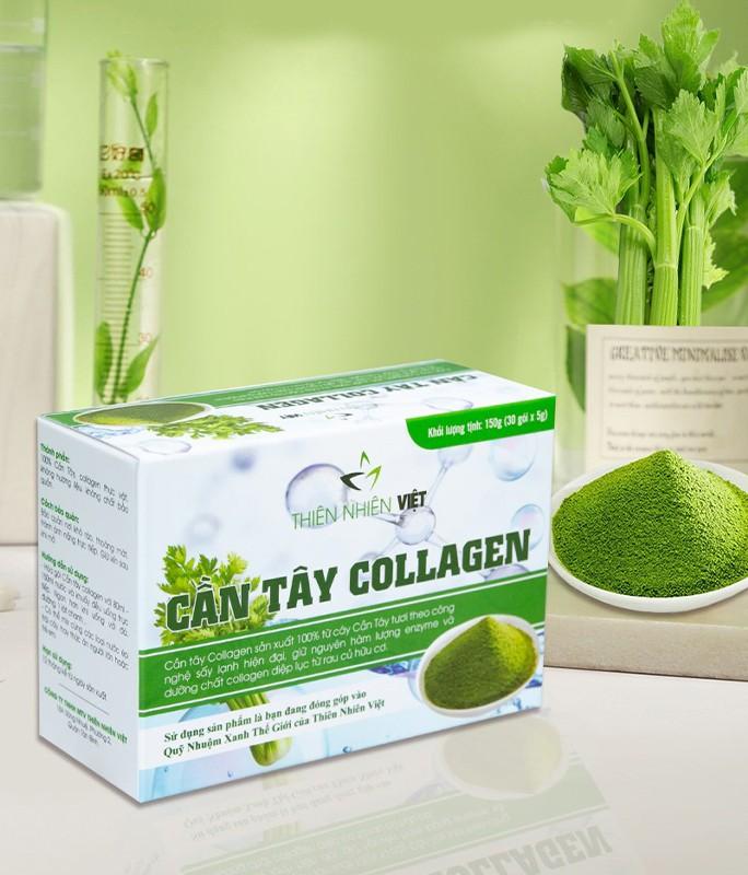Cần tây Collagen Thiên Nhiên Việt chính hãng - bột uống giảm cân, đẹp da