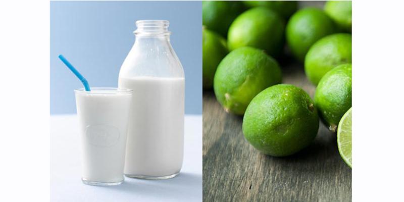 Sạch mụn đầu trắng hoàn toàn nhờ sữa và nước cốt chanh